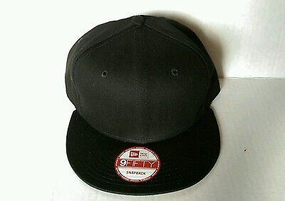 ... ireland 1x new era 9fifty flat snapback hat cap blank black ne 9fifty  68e3c 9c3c2 123dd35ede08