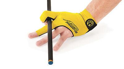 Predator Second Skin Billiard Glove Yellow Fits Left Bridge Hand