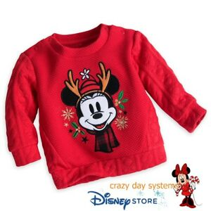 1671f1cc8 Disney Store Minnie Mouse Holiday Sweater for Baby Warm Size 6 9 ...