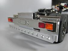Alum Rear T-Bar Bumper Guard w/ LED light holes Tamiya RC 1/14 GlobeLiner Semi