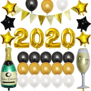 2020 Gold Silver Foil Number Balloons New Year Eve ...