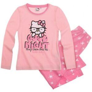 SANRIO-pyjama-HELLO-KITTY-4-8-ou-10-ans-rose-clair-etoiles-NEUF