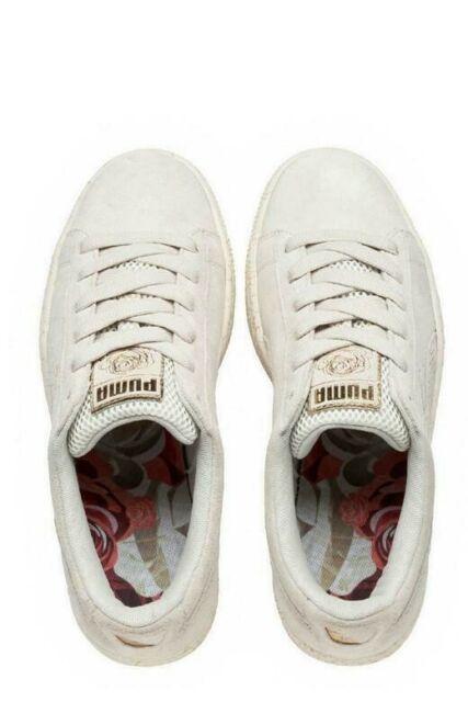 Unisex Puma Basket Suede X Careaux Whisper White Fashion Retro Trainer UK 4-10