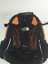 The North Face Recon Backpack School Book bag College Campus Orange Black