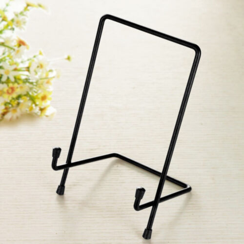 Black Metal Display Easel Stand Plate Bowl Picture Photo Display Rack/_XL