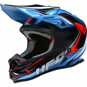2017-UFO-Motocross-MX-Enduro-Helmet-Speeder-Medium-57-58cm-Sky-Blue-Black-Red