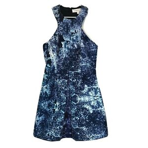 Finders-Keepers-Womens-Blue-Sleeveless-Lined-Dress-Size-XS