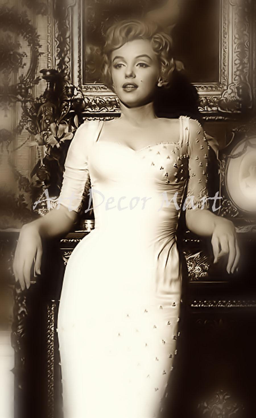 Marilyn Monroe-2 - CANVAS OR PRINT WALL ART