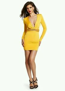 b3d5c26fc39a Image is loading GUESS-by-Marciano-Sexy-Jessa-Long-Sleeve-Dress-