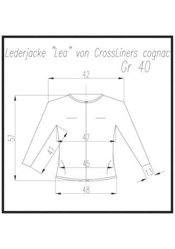 40 e 42 Da Donna Giacca di pelle di crossliners COGNAC TG
