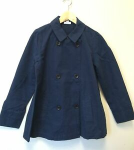 New-J-Jill-Double-Breasted-Navy-Light-Canvas-Jacket-MSRP-129