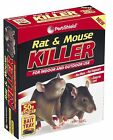 Rat & Mouse Killer Poison Indoor Outdoor Includes Bait Tray 50g for Amateur Use