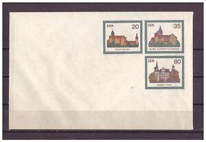 DDR-R-d-a-Entier-Postal-U-2-034-Chateaux-amp-Chateaux-034-Inutilise