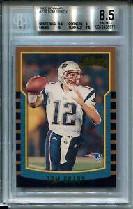 2000-Bowman-Football-236-Tom-Brady-Rookie-Card-RC-Graded-BGS-Nm-Mint-8-5