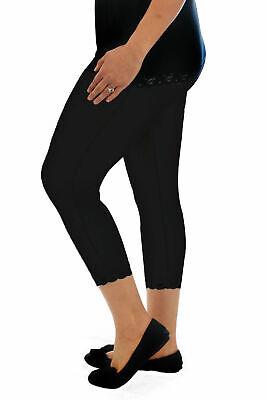 Nuova Linea Donna Leggings Pantaloni Donna Cotone Pizzo Trim Vendita Tagliato 3/4 Plus Size-mostra Il Titolo Originale Fabbriche E Miniere