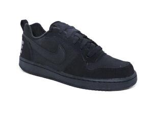 huge selection of 41f26 3ec10 Nike Court Borough Low Noir Jeunesse Baskets EUR 36   Achetez sur eBay