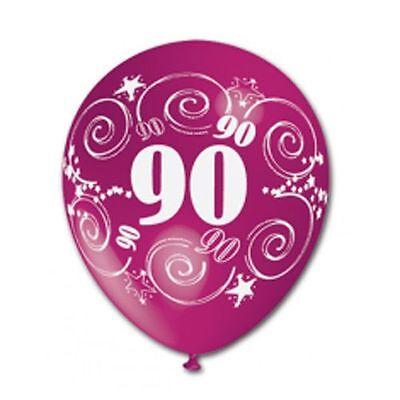 10 Palloncini Palloni 90 Anni Compleanno Festa Feste Party Colori Assortiti