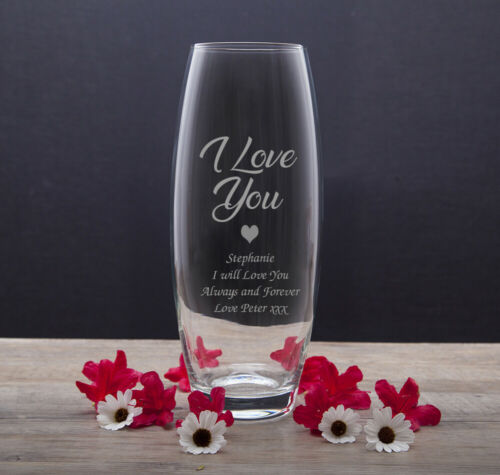 Engraved Glass Vase For Sister Auntie Niece Birthday Gifts Presents Christmas