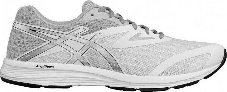 ASICS Amplica Mens White Silver Black Running Trainers shoes T825N.0193 Size