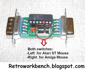 Amiga Atari ST Mouse Adapter For Amstrad Commodore MSX 9pin