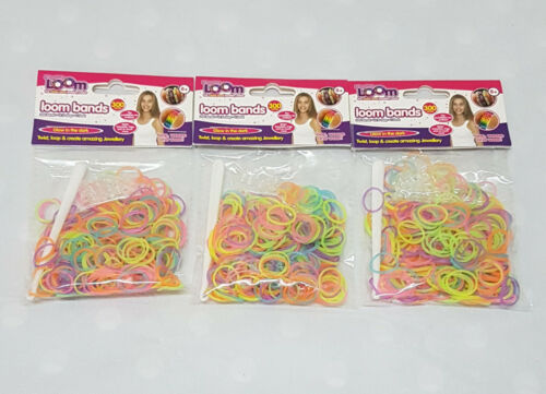 UK Seller 36 Loom Band S Clips 3 X Loom Bands 900 Rubber Bands 3 Hooks