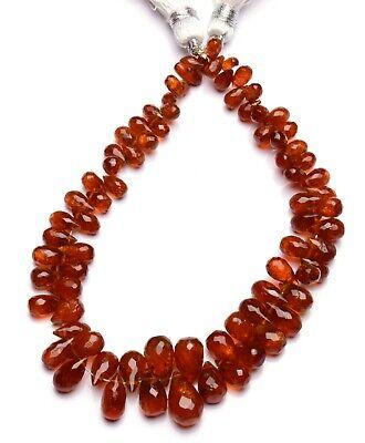 Natural Sunstone Faceted Tear Drop Briolette Gemstone Beads strand 8 inch