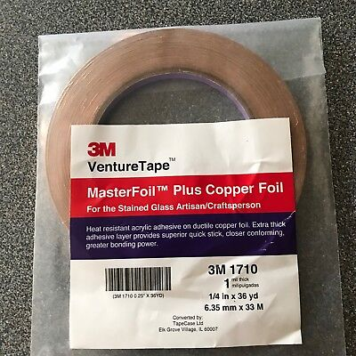 1 4 Inch Wide X 36 Yards Long Copper Foil Adhesive Tape
