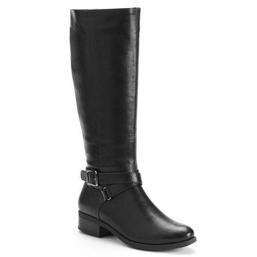 Croft  Barrow Mujer cbkellynegro Zipup Hebilla botas de Montar Med new  85