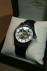 Rotary-watch-mens-stainless-steel-automatic-silver-dial-gs03357