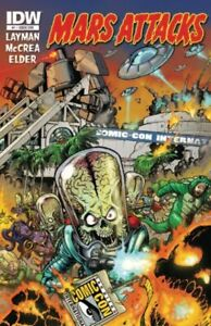 MARS ATTACKS #1 SDCC EXCLUSIVE VARIANT COVER NM IDW.
