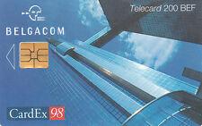 Belgacom telecard  200 BEF CardEx 98  exp 31-10-2000