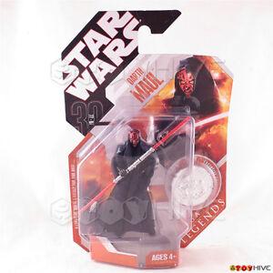 Darth Maul 2007 STAR WARS 30th Anniversary Hasbro MOC Saga Legends