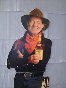 WILLIE-NELSON-CARDBOARD-STANDEE-STORE-DISPLAY-FOR-JOSE-CUERVO-5-039-8-034-TALL