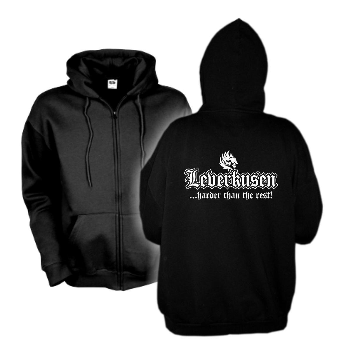 Kapuzenjacke Leverkusen harder than the rest Städte Hoodie (SFU03-03e)