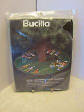 "Bucilla Kit Nativity 45"" Jeweled Christmas Tree Skirt orTable Center #3576 Vtg"