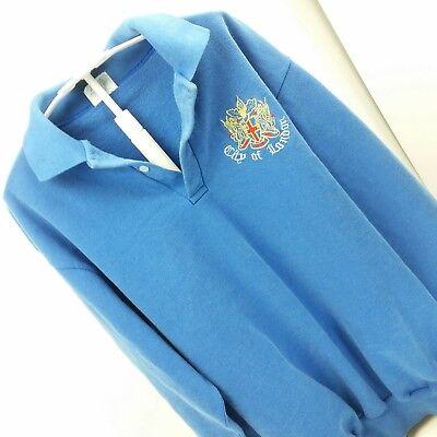 Vintage 80/'s Men/'s London Fog Polo Shirt Striped Sportswear 2XL XXL