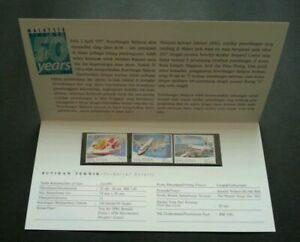 SJ-50-Years-Of-Aviation-In-Malaysia-1997-Airplane-Transport-Vehicle-stamp-MNH