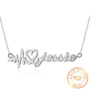 Personalized design heartbeat name necklaces pendants custom jewelry image is loading personalized design heartbeat name necklaces pendants custom jewelry aloadofball Gallery