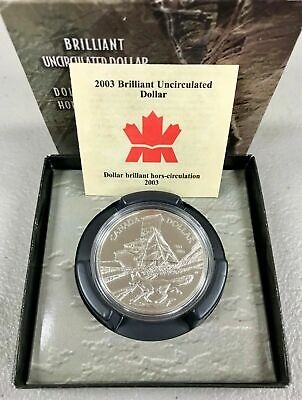 Brilliant Uncirculated 2003 Canada Uncrowned 1 Dollar From Mint/'s Roll