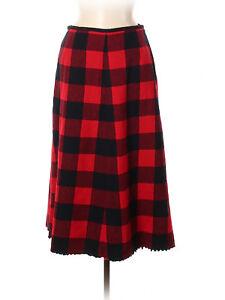 Women-Pendleton-Buffalo-Plaid-Wool-Red-Black-Check-A-Linke-Skirt-Size-6