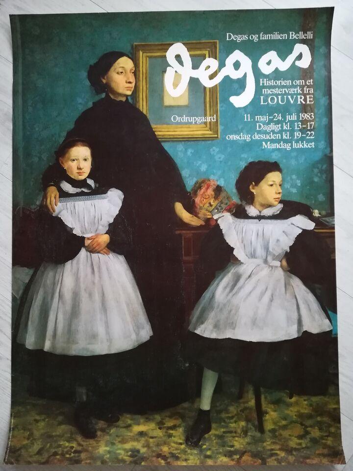 Plakat/ tryk, Edgar Degas, motiv: Portræt