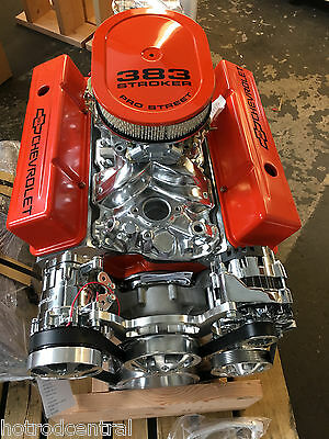 383 Stroker Crate Engine 565hp A C Roller Chevy Turn Key Motor Afr Cnc Heads Sbc Ebay