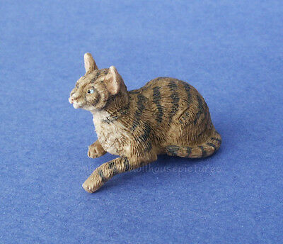 Miniature Dollhouse Doll House Brown Cat 1:12 Scale New