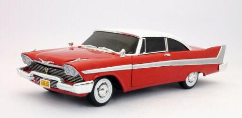 """Plymouth 1958 furia /""""Christine/"""" la versión limpia con luces de trabajo escala 1.18"""