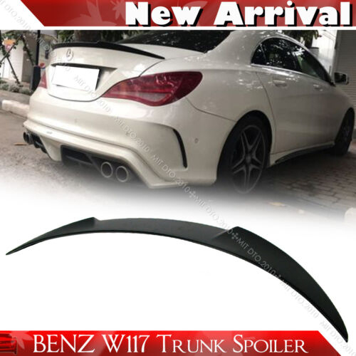 Unpaint Mercedes BENZ CLA W117 Sedan V Trunk Spoiler CLA250 CLA180