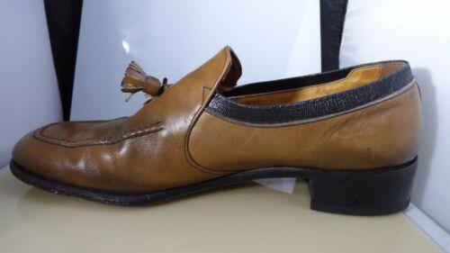 On Vintage Freeman Tassel D Slip Brown Tan Shoes 10 Taglia bicolore Mocassino Mens XaXqF