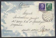 POSTA MILITARE 1942 Lettera PA da PM 52 a Roma (MB)