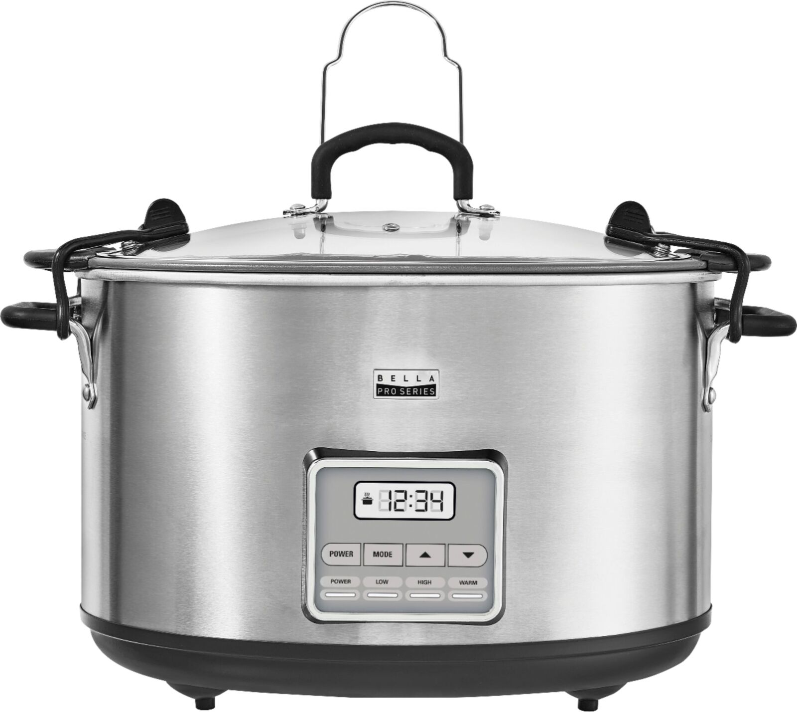 Bella - Pro Series 10-qt. Digital Slow Cooker - Stainless Steel