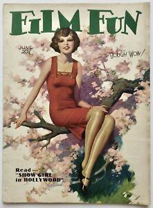 Hi-Grade June 1930 Film Fun Magazine Elegant Art Deco Beauty Cover Enoch Bolles