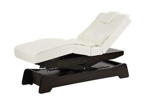 Wellnessliege holz  Massageliege Behandlungsliege Wellnessliege Holz 208s schwarz-weiß ...